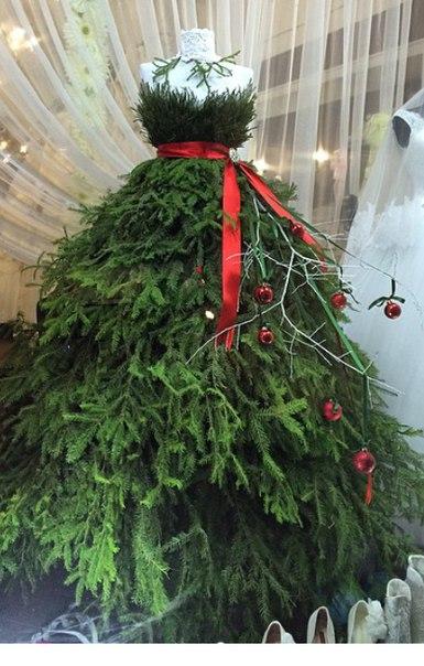 елка платье креатив дизайн новый год