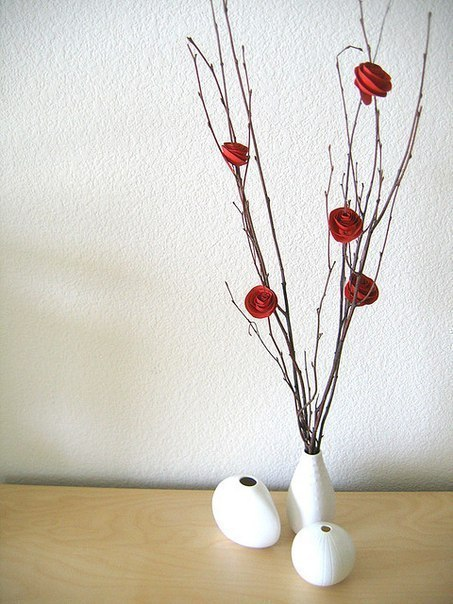 мастер класс как сделать цветы своими руками крепим к веткам mamaclub.ru