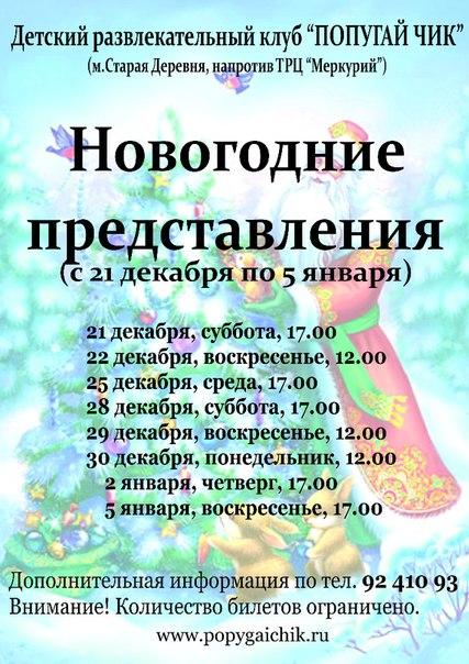 """Новогодние ёлки в центре """"Попугай Чик"""""""