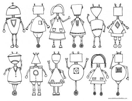 Как рисовать робота
