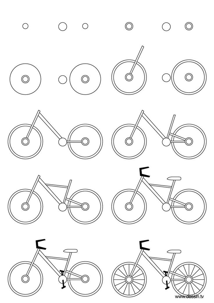 рисуем велосипед