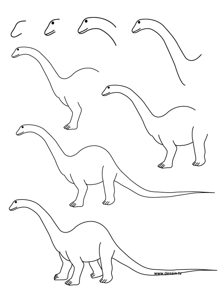 Динозавр рисуем динозавра