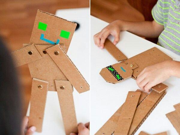 Игрушки из картона видео