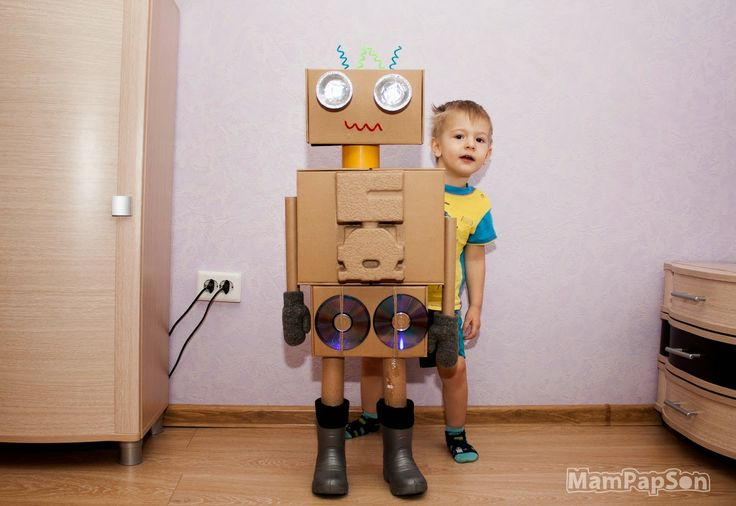 Робот сделать своими руками из коробок